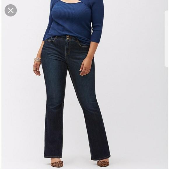 ef8761b6a0a Venezia Lane Bryant Plus Flare Jeans Pants 20